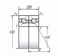 NACHI 17TAB04DF(DB)-2LR Back-to-back duplex arrangement Bearings