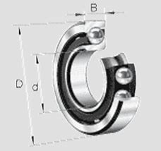 BARDEN B71922C.T.P4S DBB, DFF, DBT, DFT, DTT, Quadruplex Precision Bearings