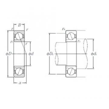 35 mm x 62 mm x 14 mm  NTN 5S-BNT007 Back-to-back duplex arrangement Bearings