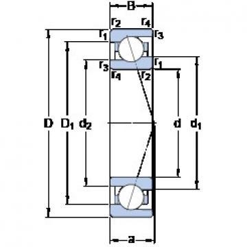 55 mm x 80 mm x 13 mm  SKF 71911 CE/P4A DBB, DFF, DBT, DFT, DTT, Quadruplex Precision Bearings