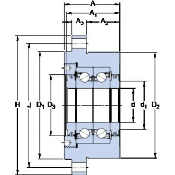 SKF FBSA 207/DB Duplex angular contact ball bearings HT series