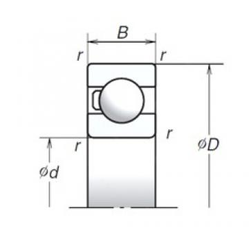 17 mm x 40 mm x 12 mm  NSK 6203T1X double direction angular contact thrust ball bearings