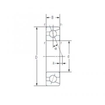 45 mm x 68 mm x 12 mm  NACHI 7909C Duplex angular contact ball bearings HT series