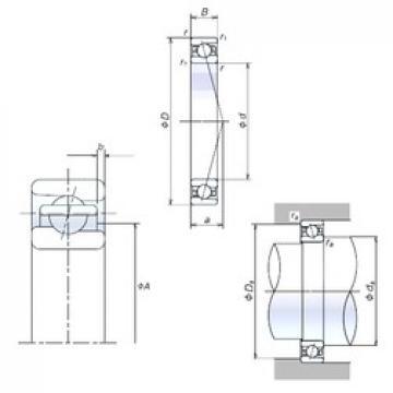 110 mm x 150 mm x 20 mm  NSK 110BER19H Double-Row Angular Contact Ball Bearings