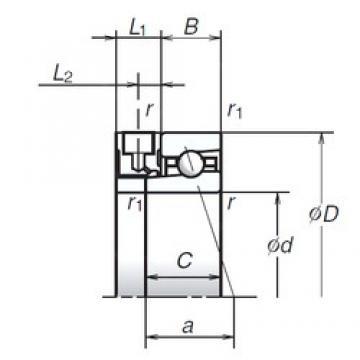 90 mm x 125 mm x 18 mm  NSK 90BNR19XE Double-Row Angular Contact Ball Bearings