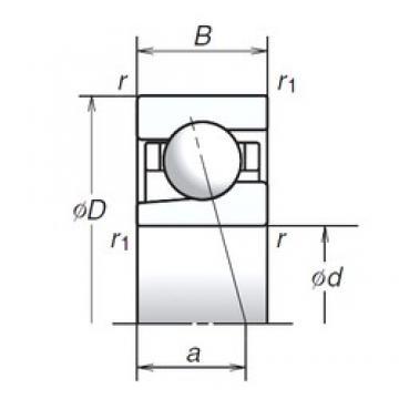 20 mm x 47 mm x 14 mm  NSK 20BGR02S Angular contact thrust ball bearings 2A-BST series