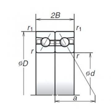 60 mm x 95 mm x 16,5 mm  NSK 60BAR10H Double-Row Angular Contact Ball Bearings
