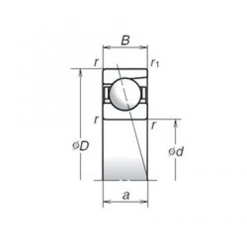 6 mm x 17 mm x 6 mm  NSK 706C Angular contact thrust ball bearings 2A-BST series