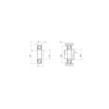 NSK 7022A Duplex angular contact ball bearings HT series
