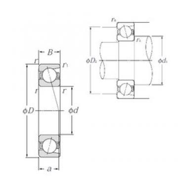 95 mm x 170 mm x 32 mm  NTN 7219C Easy Handling Precision Bearings