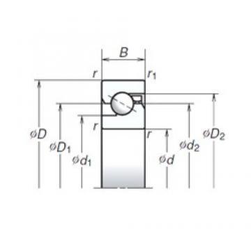40 mm x 90 mm x 20 mm  NSK 40TAC90B DBB, DFF, DBT, DFT, DTT, Quadruplex Precision Bearings