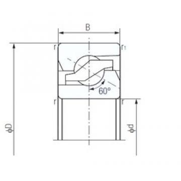 60 mm x 120 mm x 20 mm  NACHI 60TAB12 Back-to-back duplex arrangement Bearings