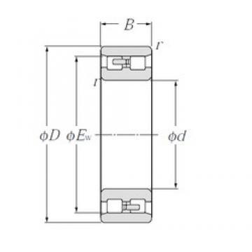 160 mm x 240 mm x 60 mm  NTN NN3032 Double-Row Angular Contact Ball Bearings