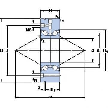 SKF BEAM 060145-2RS  ball screws BST Type Precision Bearings