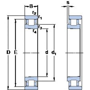70 mm x 110 mm x 20 mm  SKF N 1014 KPHA/HC5SP Back-to-back duplex arrangement Bearings