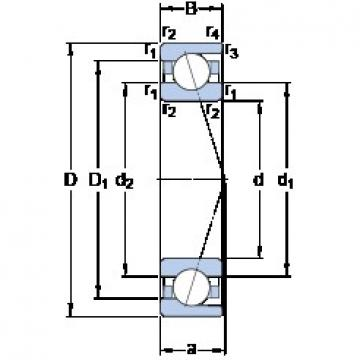 85 mm x 150 mm x 28 mm  SKF 7217 ACD/P4A Double-Row Angular Contact Ball Bearings