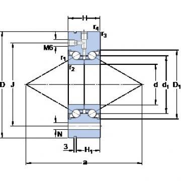 SKF BEAM 017062-2RZ DBB, DFF, DBT, DFT, DTT, Quadruplex Precision Bearings