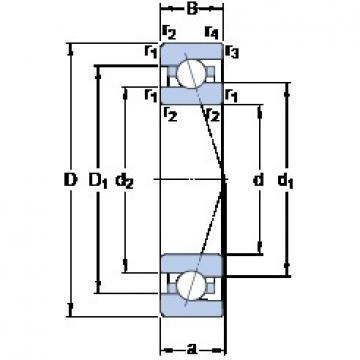 95 mm x 145 mm x 24 mm  SKF 7019 CE/HCP4A Double-Row Angular Contact Ball Bearings