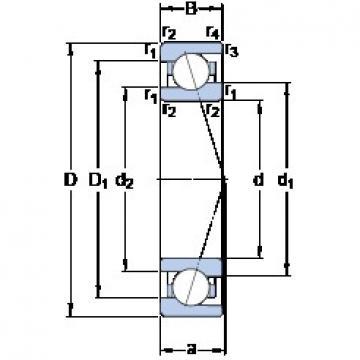 15 mm x 28 mm x 7 mm  SKF 71902 ACE/HCP4A DB/DF/DT Precision Bearings