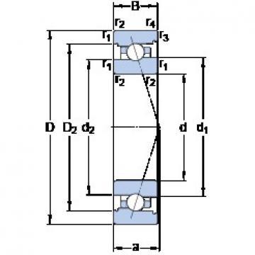 75 mm x 115 mm x 20 mm  SKF 7015 ACB/HCP4A DBB, DFF, DBT, DFT, DTT, Quadruplex Precision Bearings