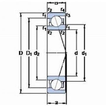 BARDEN B7212E.T.P4S Back-to-back duplex arrangement Bearings