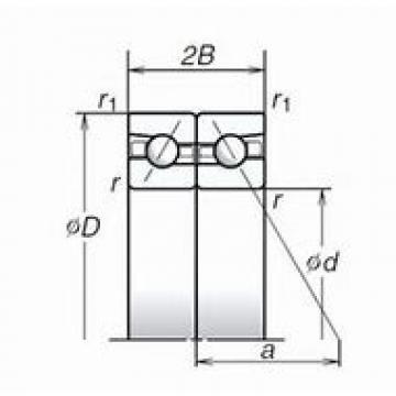 BARDEN 234710M.SP Back-to-back duplex arrangement Bearings