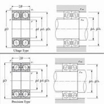 NTN 2LA-HSL917UAD Back-to-back duplex arrangement Bearings