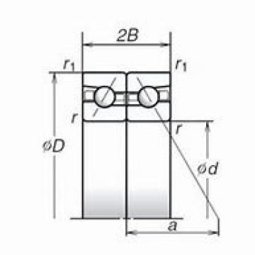 80 mm x 140 mm x 26 mm  SKF 7216 ACD/P4A DBB, DFF, DBT, DFT, DTT, Quadruplex Precision Bearings