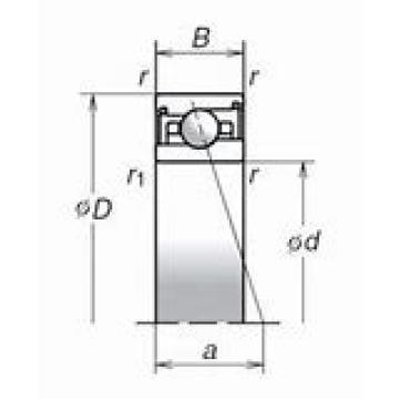 90 mm x 115 mm x 13 mm  SKF 71818 CD/HCP4 DBB, DFF, DBT, DFT, DTT, Quadruplex Precision Bearings