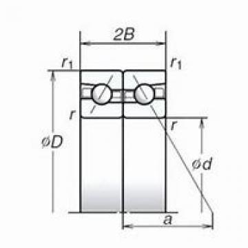 NSK B71902E.T.P4S. DBD, DFD, DTD, DUD Triplex Precision Bearings