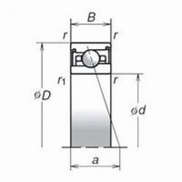NACHI 71822 ACD/HCP4 DBD, DFD, DTD, DUD Triplex Precision Bearings