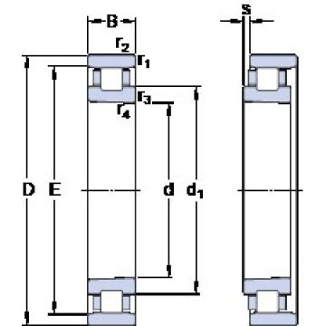 70 mm x 110 mm x 20 mm  SKF N 1014 KTN/HC5SP Duplex angular contact ball bearings HT series