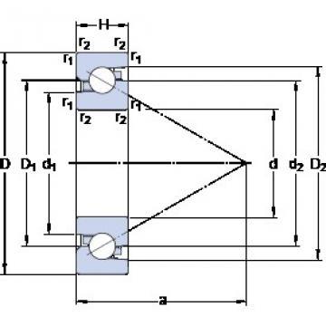 SKF BSD 4090 C Angular contact thrust ball bearings 2A-BST series