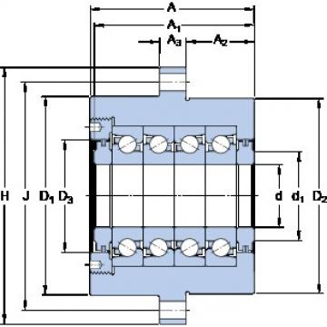 SKF FBSA 206/QBC double direction angular contact thrust ball bearings